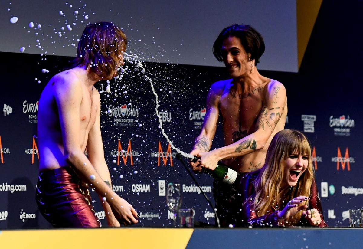 Рок-группа Måneskin привезла Италии победу на Евровидении-2021 \ фото REUTERS