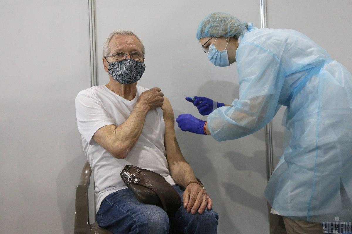 Центр вакцинації проти COVID-19 відкрився у столиці 29 травня \ фото УНІАН