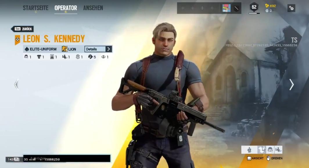 Леон Кеннеді в Rainbow Six Siege / скріншот