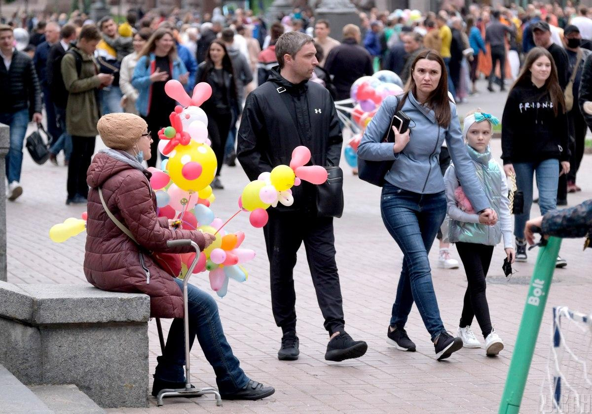 День Киева 2021 показал, что маски носить в публичных местах готовы далеко не все / фото УНИАН