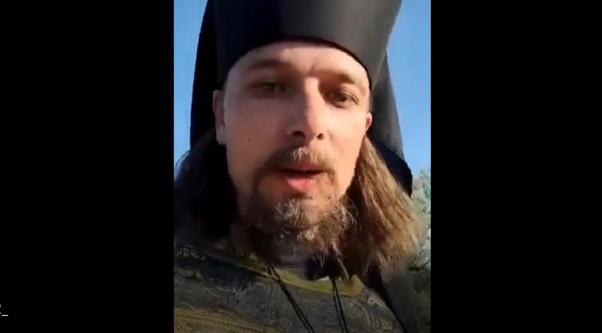 Актор у рясі закликав усіх покаятися / скріншот