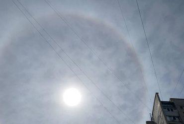В небе над Запорожьем заметили редкое атмосферное явление (фото)