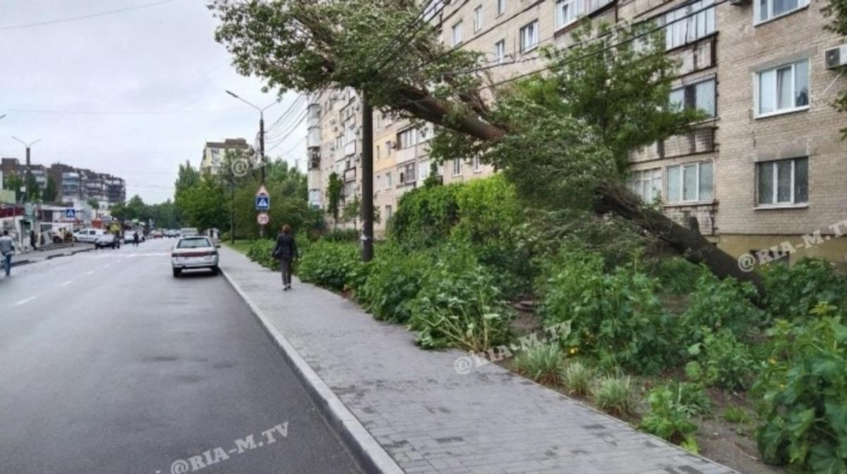 В Мелитополе бушевала непогода / фото ria-m.tv