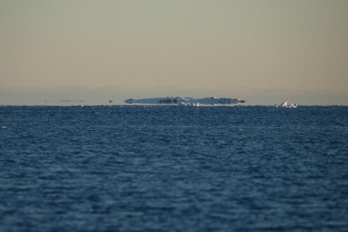 Над водой океана такой мираж случается исключительно в полярных регионах / facebook.com/AntarcticCenter