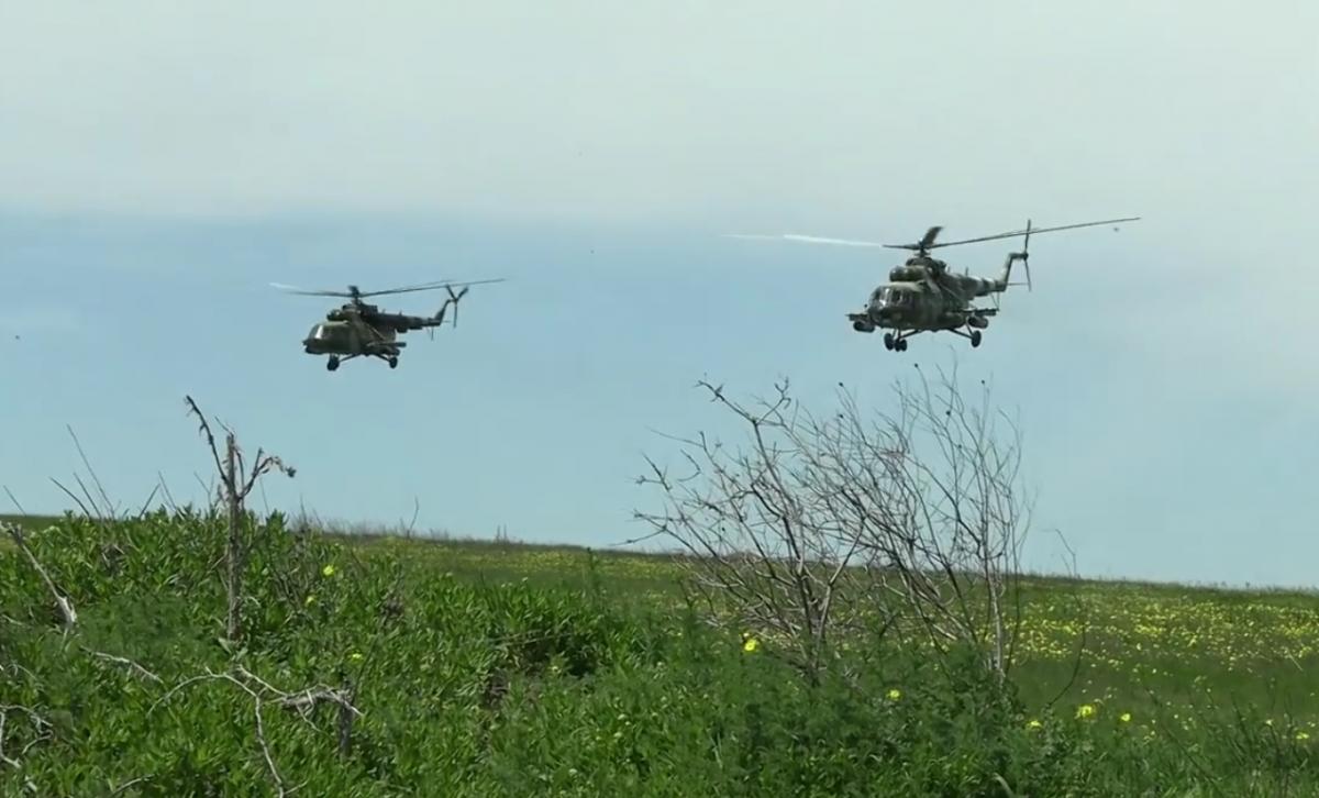 Военные учения вблизи оккупированного Крыма / скриншот