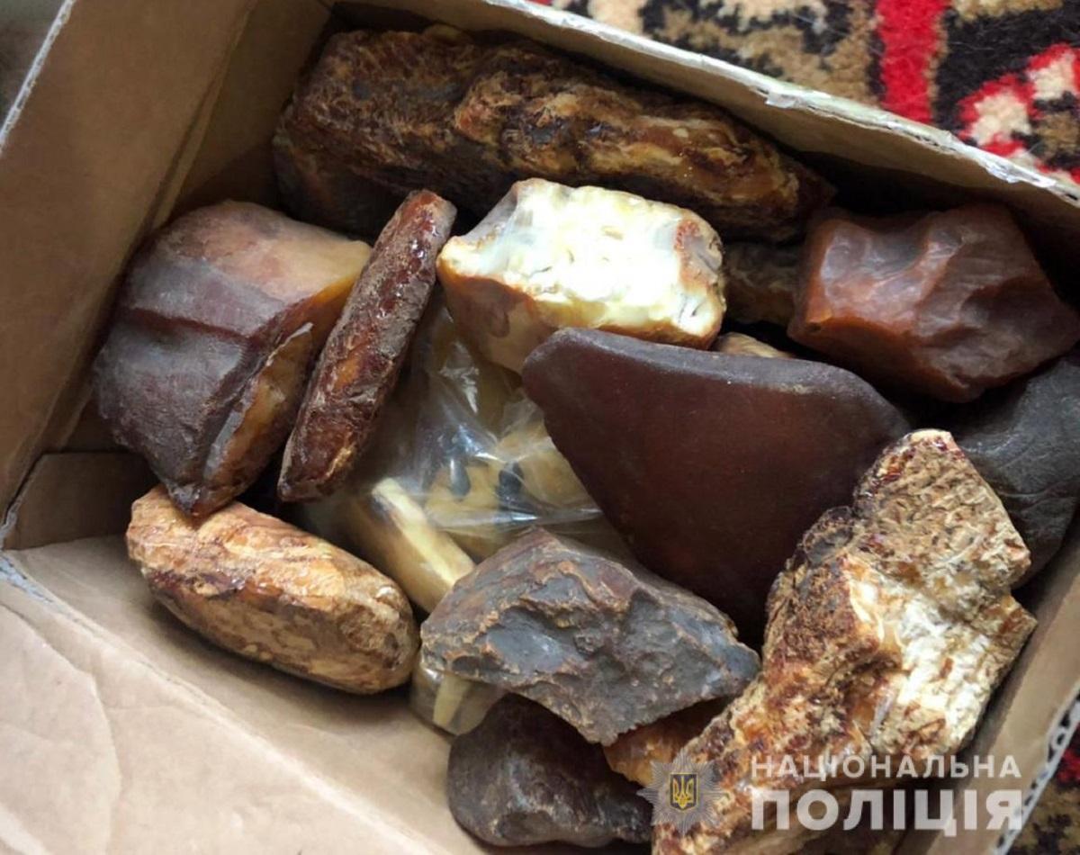 Правоохранители перекрыли канал сбыта янтаря в КНР и страны Ближнего Востока / фото Национальной полиции
