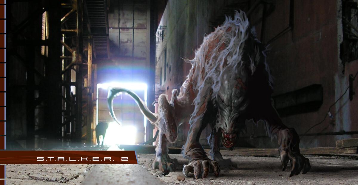 Концепт одного из мутантов отмененного сиквела S.T.A.L.K.E.R. /скриншот