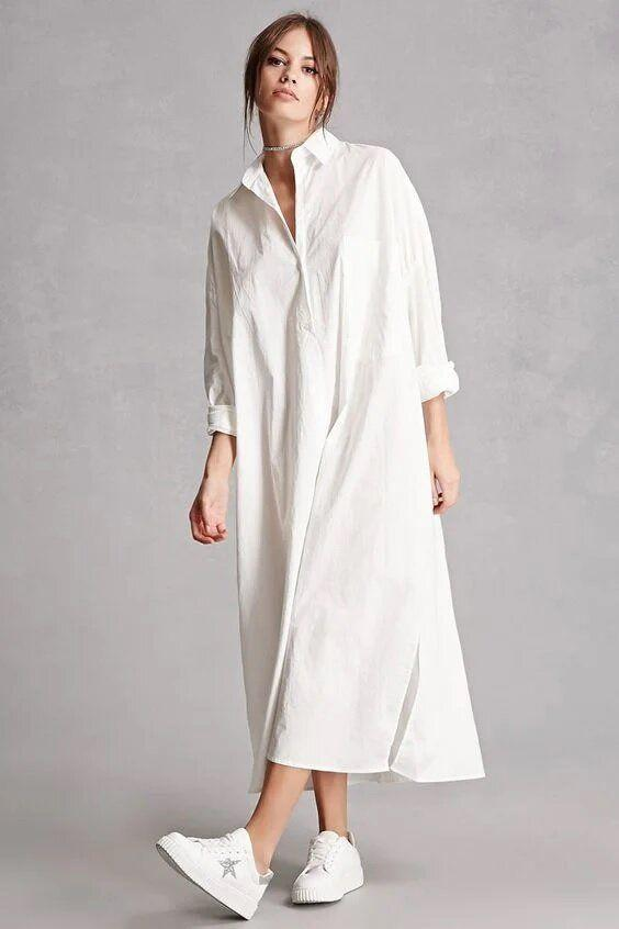 Длинные летние платья 2021 / фото pinterest.com