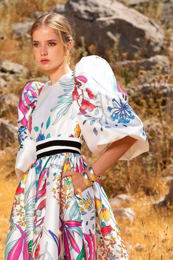 Яркие летние платья 2021 / фото Elie Saab