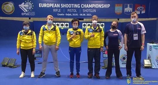 Пьедестал почета в конце соревнований / фото facebook.com/European-Shooting-Confederation