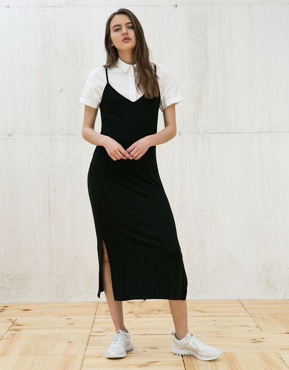 Летнее платье-комбинация / фото pinterest.com