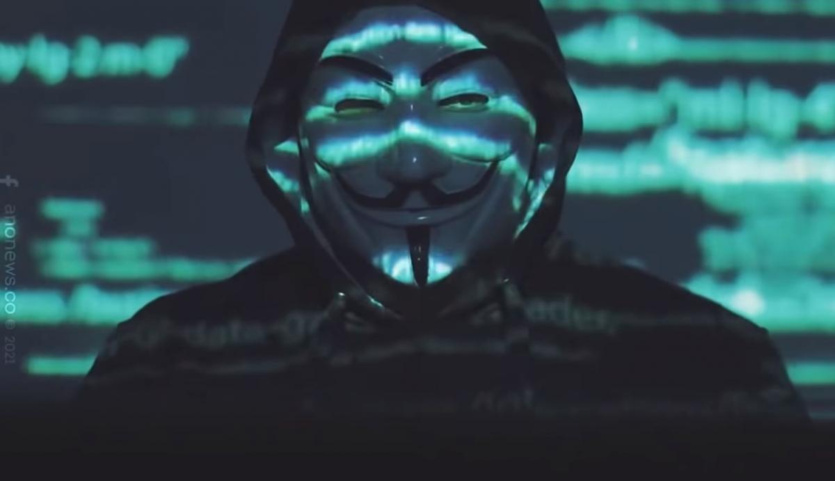 Обращение Anonymous записал человек в маске Гая Фокса/ скриншот из видео