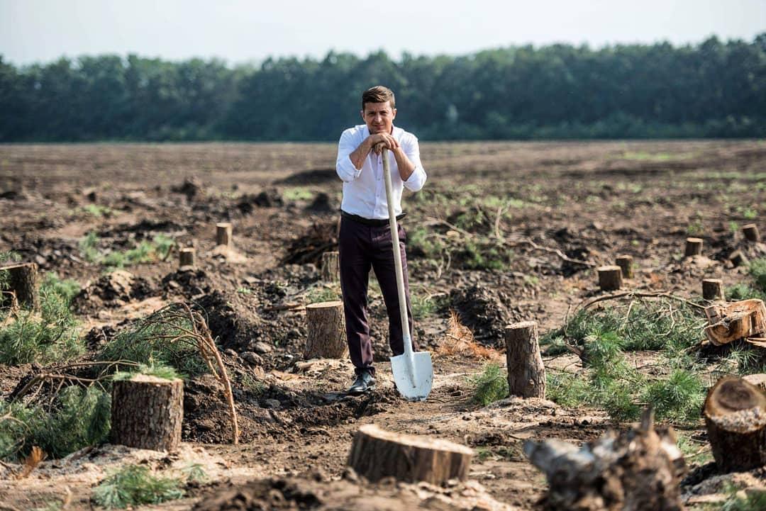 Зеленский пообещал высадить миллиард деревьев за три года / фото instagram.com/sluga95/
