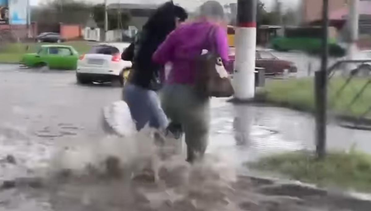 Херсон затопило / скриншот с видео