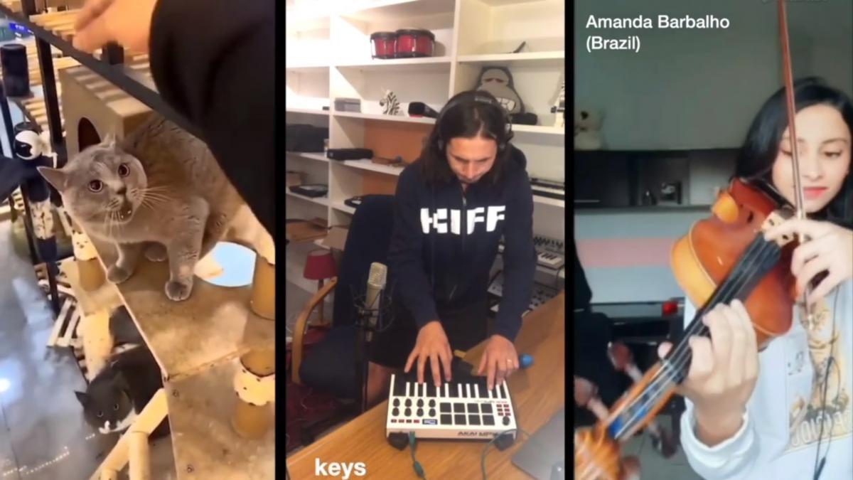 Работу музыканты назвали международным симфоническим мэшапом/ скриншот из видео