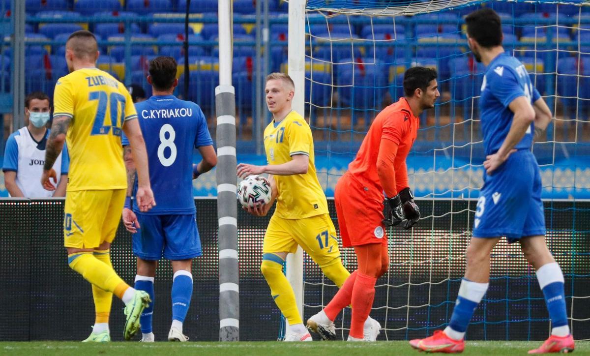 Олександр Зінченко забив другий гол збірної України / фото REUTERS
