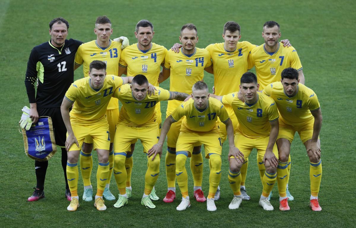 Сборная Украины перед матчем с Кипром / фото REUTERS