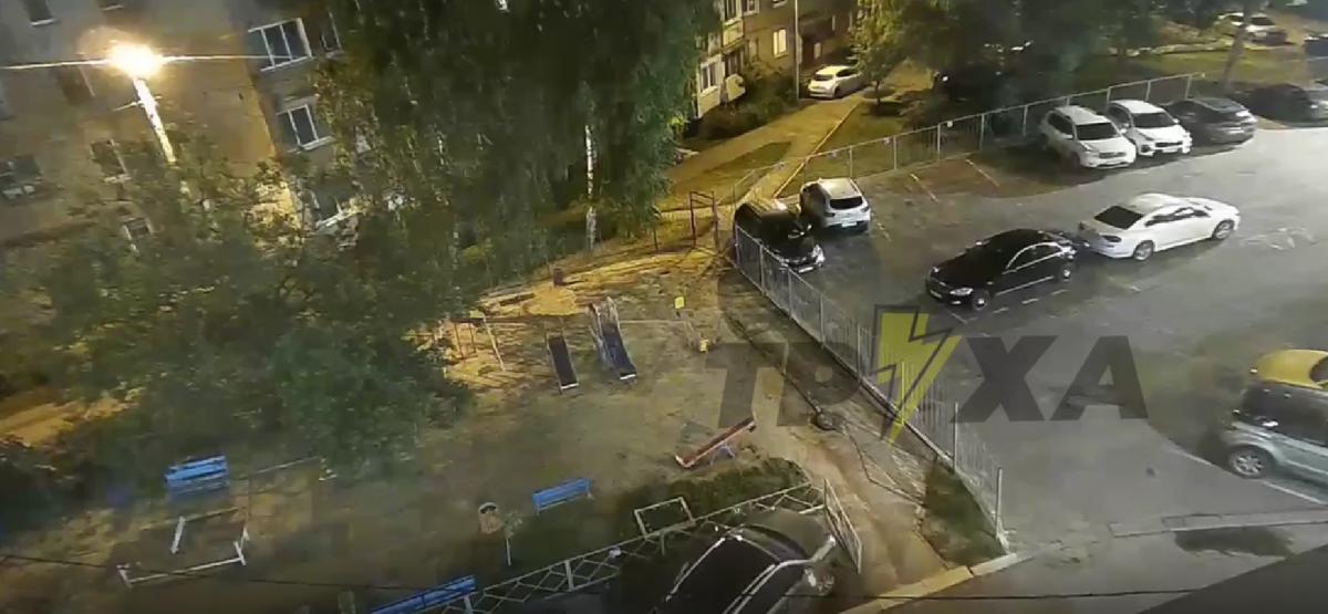 Момент вибуху в Харкові / скріншот
