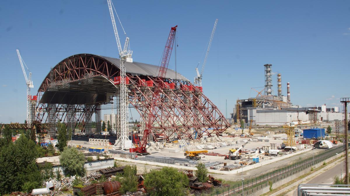 """Для строительства саркофага над разрушенным 4-м энергоблоком Чернобыльской АЭС были привлечены мощности """"Метинвеста"""""""