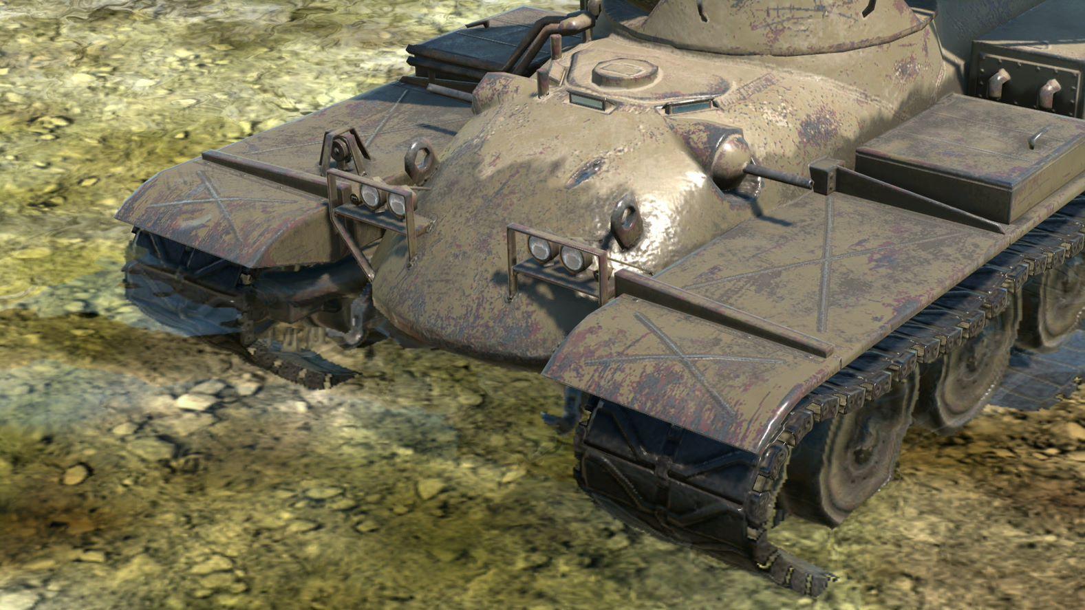 Перший час після контакту з водою танк залишатиметься мокрим / фото wargaming.net