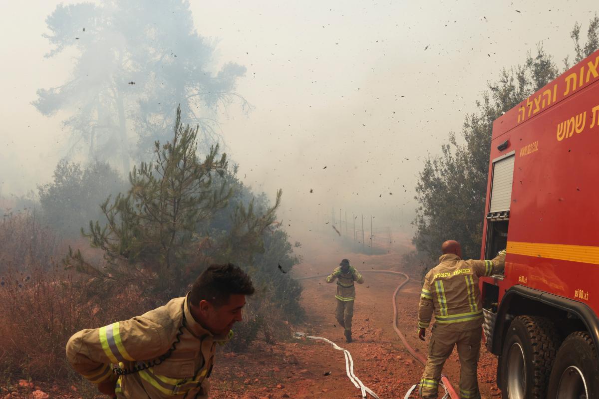 Поблизу Єрусалиму вирують лісові пожежі / фото REUTERS