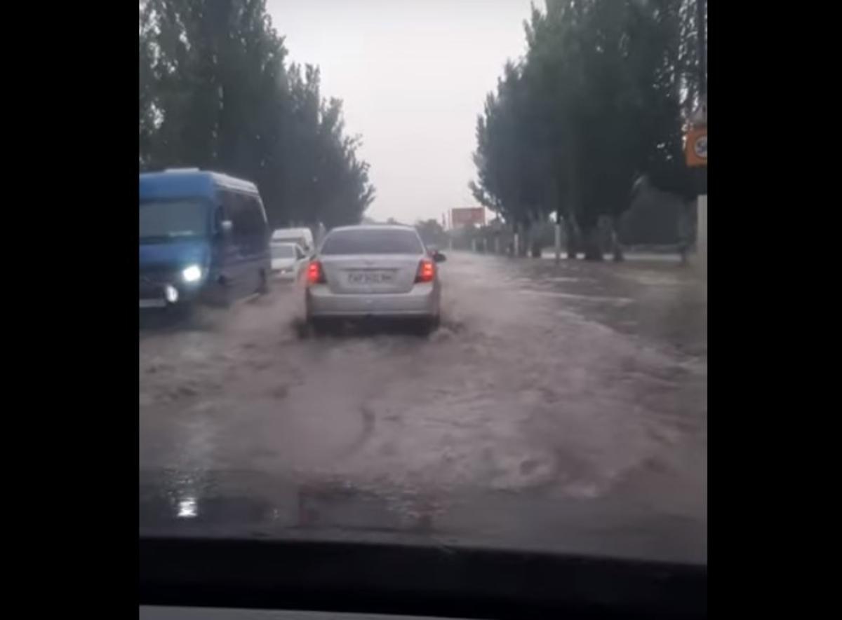Мелитополь затопило / скриншот видео