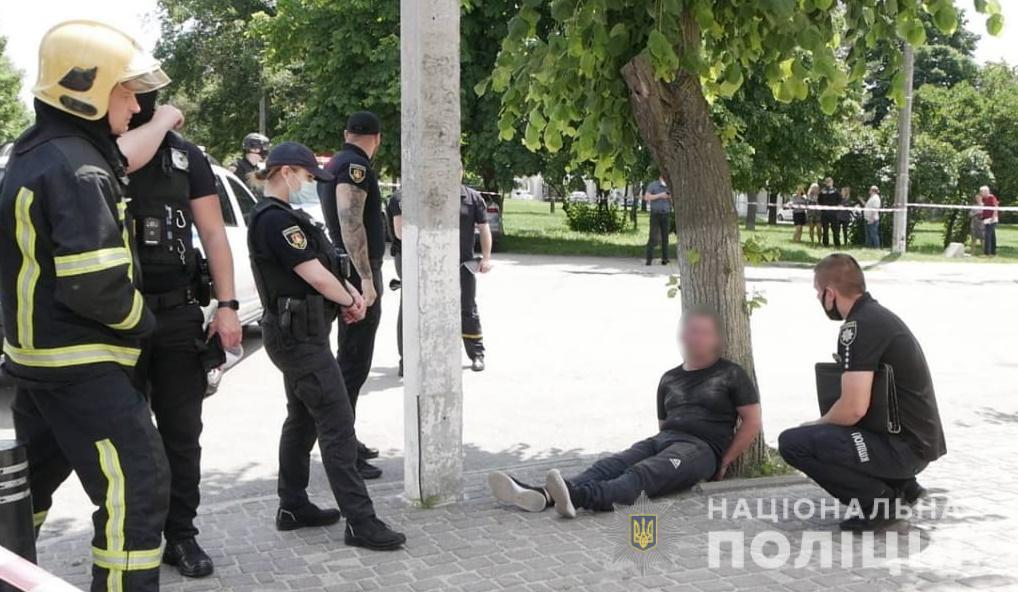 У Білій Церкві чоловік замінував ЖЕК / фото kv.npu.gov.ua