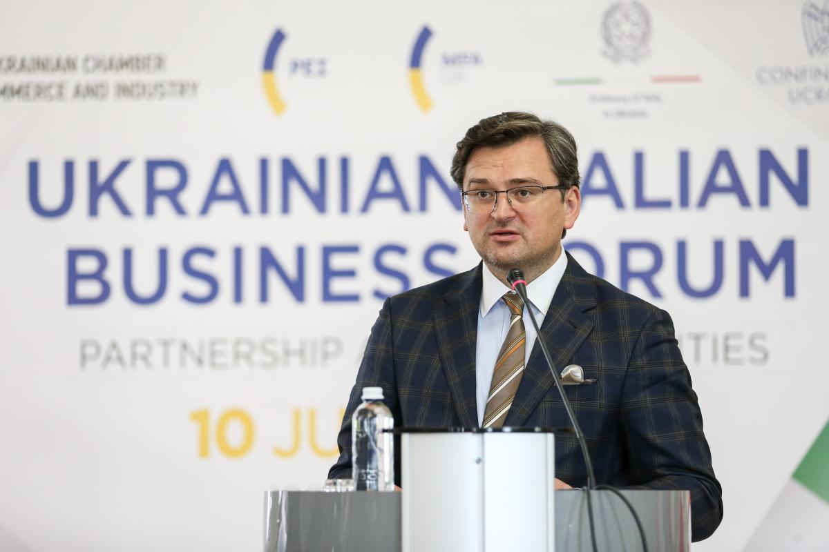 Міністр закордонних справ України Дмитро Кулеба подякував бізнесменамза активізацію ділового співробітництва