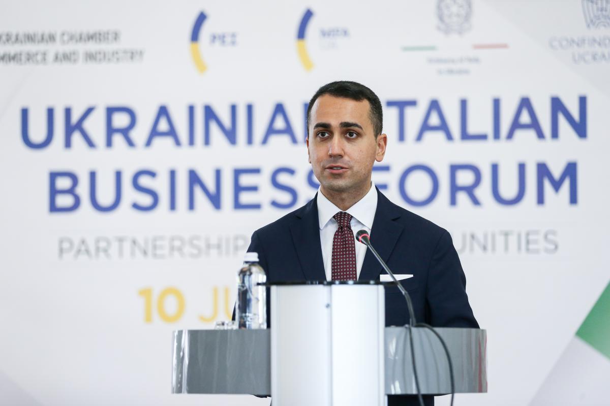 Міністр закордонних справ і міжнародного співробітництва Італії Луїджі Ді Майо заявив про зміцнення співпраці між двома країнами