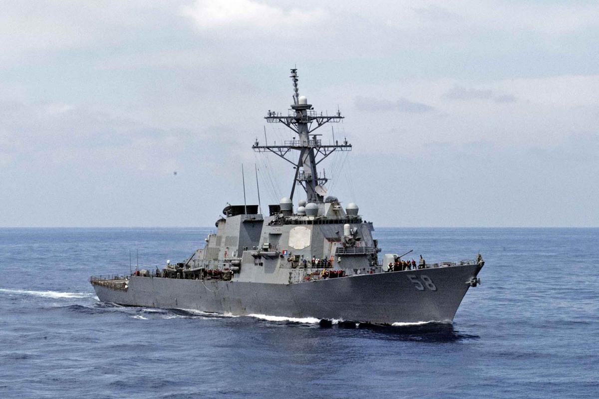 """""""Арле Берк"""" USS Laboon (DDG 58) направляется в Черноеморе/ фото twitter.com/USNavyEurope"""