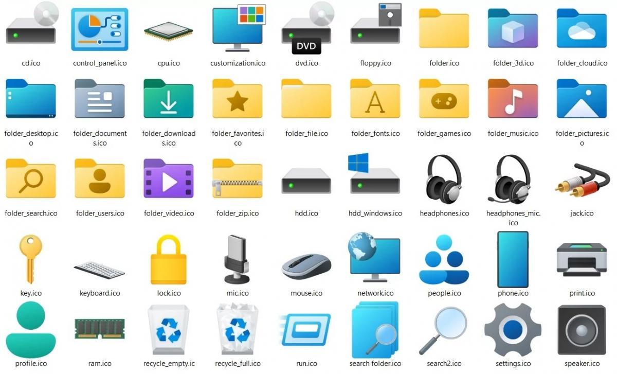 Внешний вид иконок Windows 11 будет непринципиально, но все же отличаться от предыдущей версии