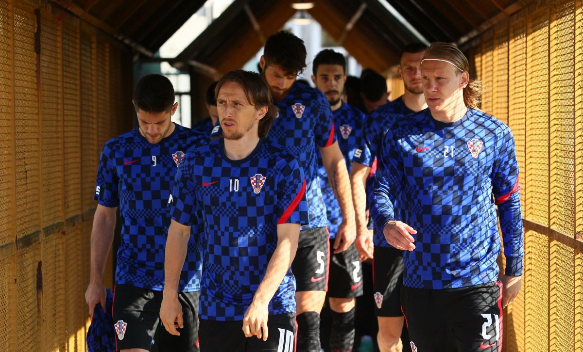 Лука Модрич, Домагой Вида и другие игроки сборной Хорватии / фото REUTERS