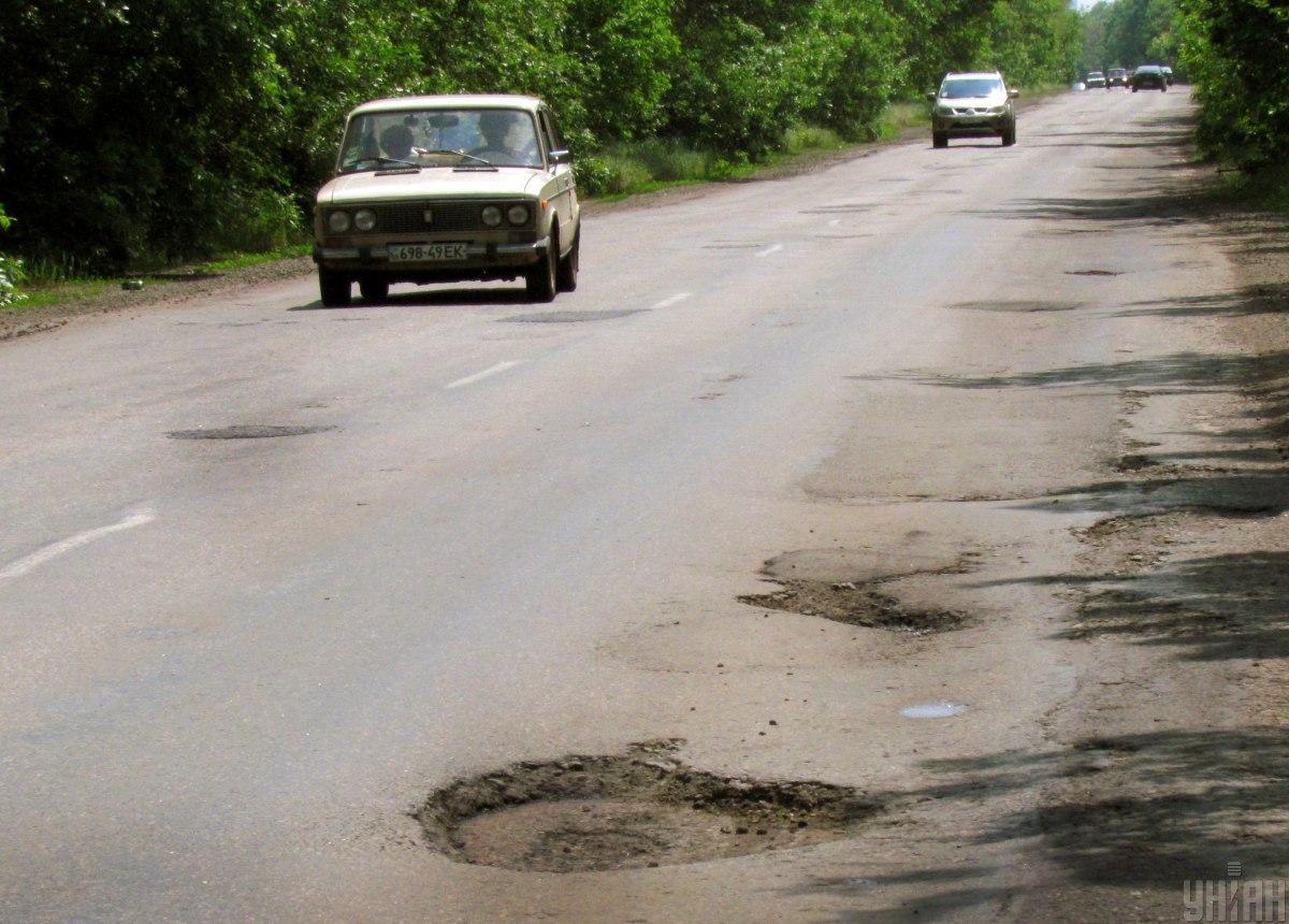 Из Киева до Умани дорога просто жесть / фото УНИАН