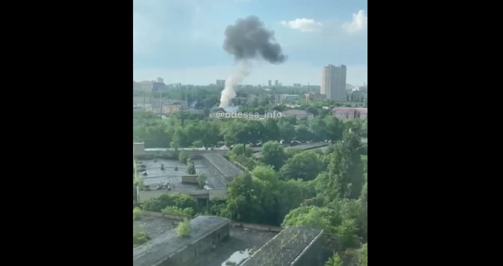 В Одесі прогримів вибух / скріншот
