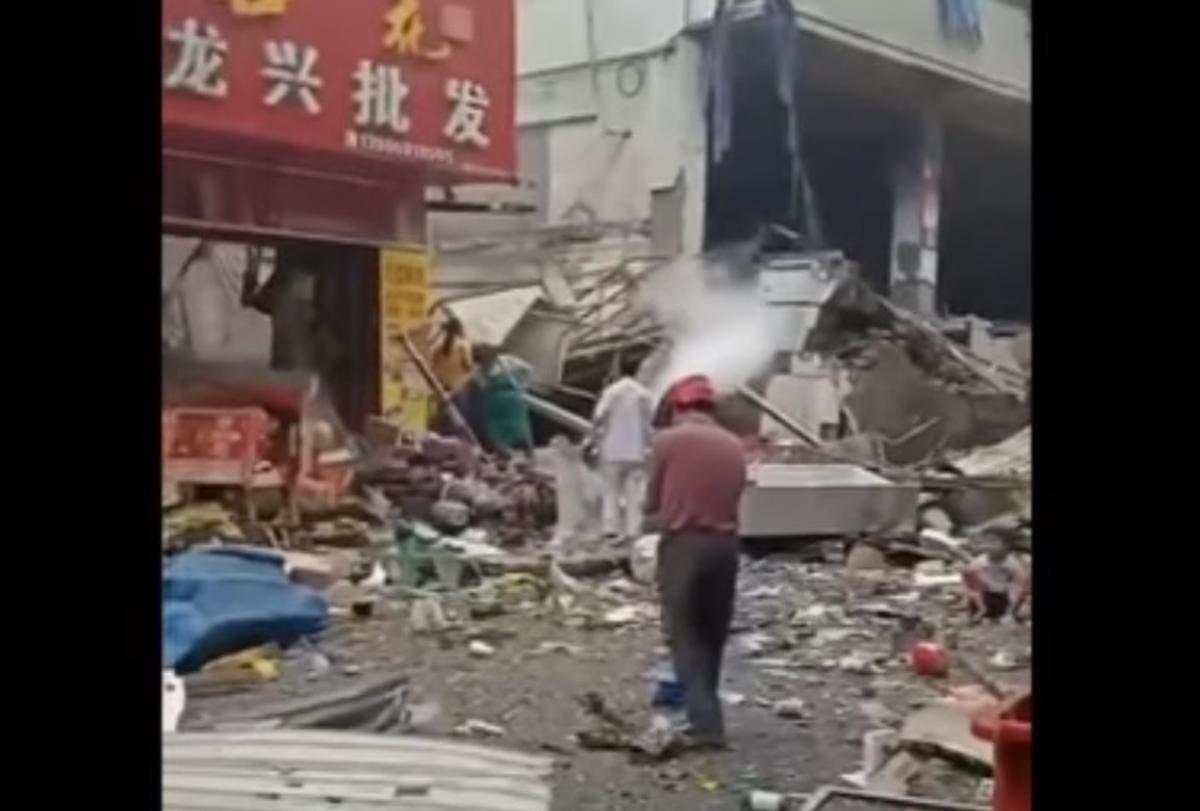 В Китае прогремел мощный взрыв / скриншот видео