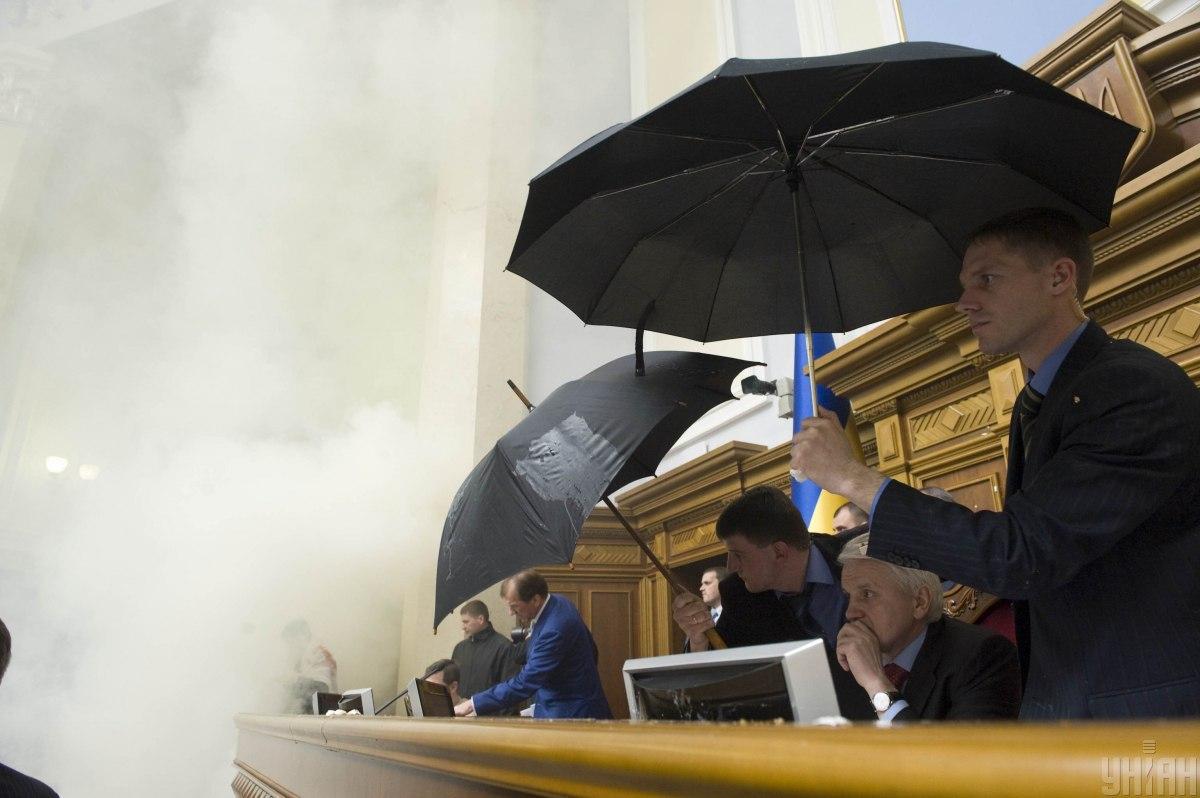 Попри запеклий протест опозиції, харківські угоди ратифікують / фото УНІАН, Анастасія Сироткіна