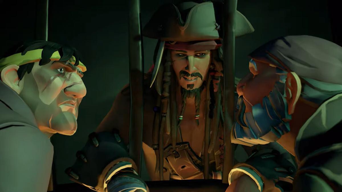 Джек Воробей в Sea of Thieves : a Pirate's Life / скріншот з трейлера