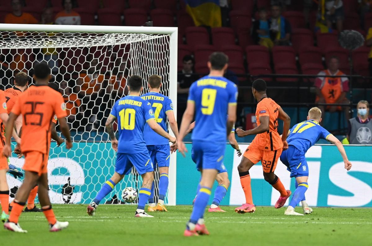 Переможний гол Нідерландів / фото REUTERS