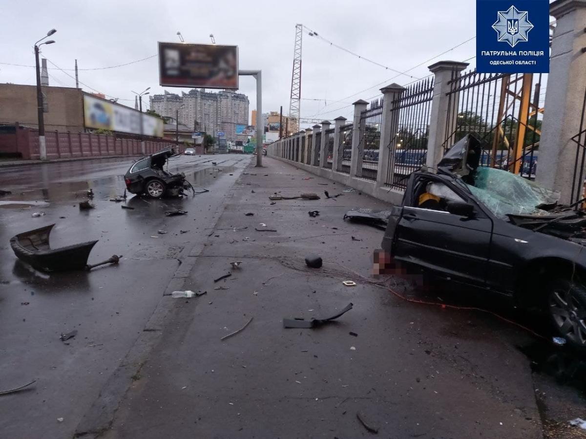 Смертельное ДТП в Одессе / фото: Патрульная полиция Одесской области