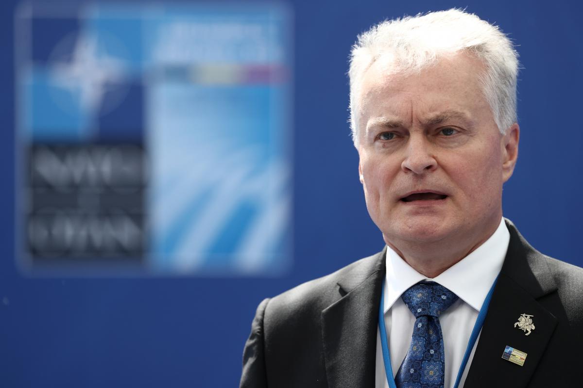 Президент Литвы Гитанас Науседа: НАТО должна соблюдать обещания в отношении Украины / фото REUTERS
