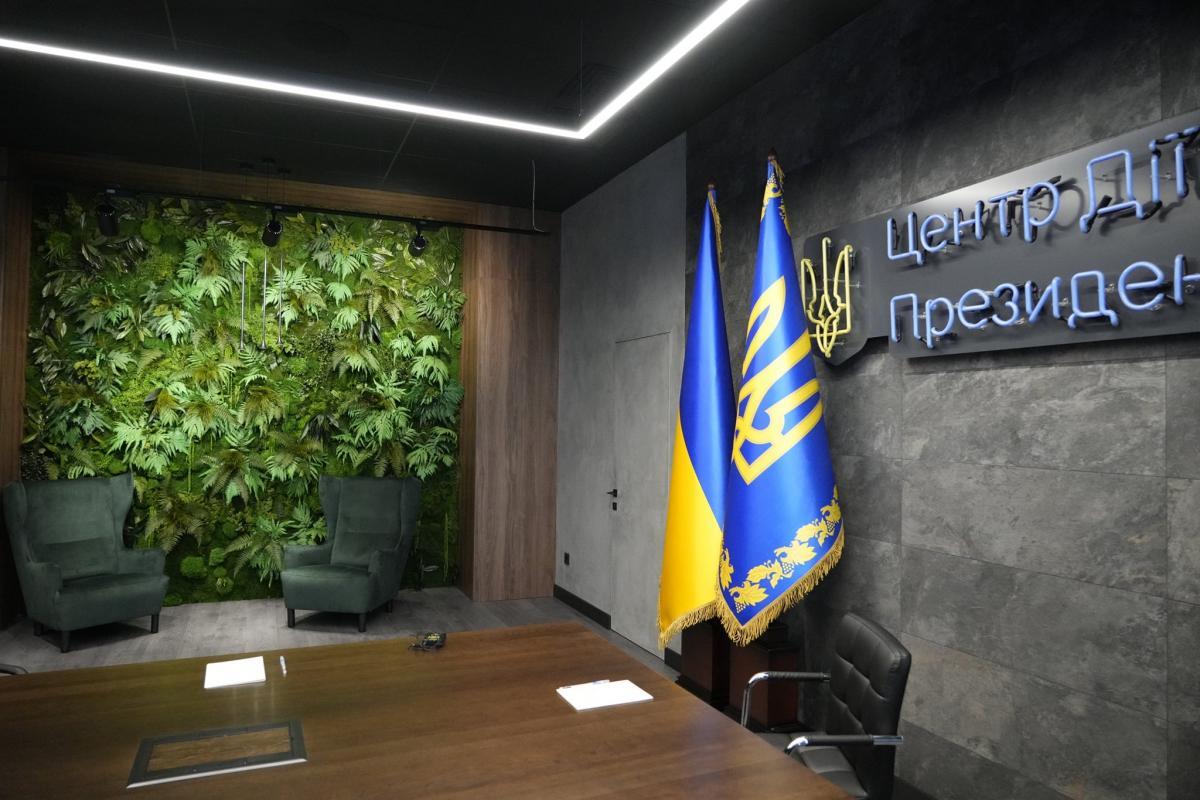 Зеленая стена в Офисе президента Зеленского / фото Ефрем Лукацкий