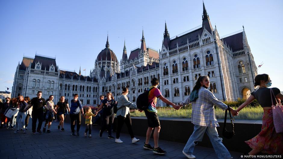 Акція протесту в Будапешті / фото REUTERS