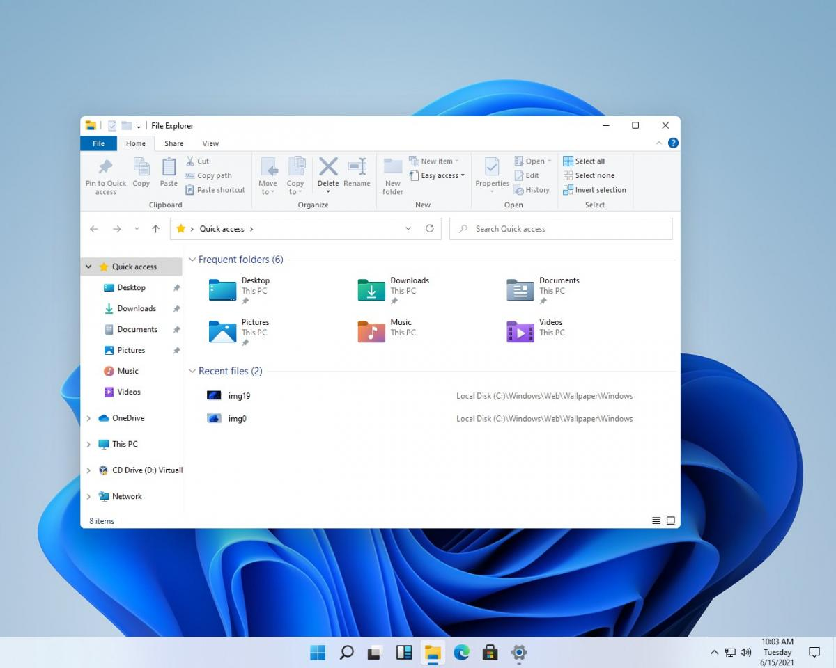 Как может выглядеть ранняя версия Windows 11 / скриншот