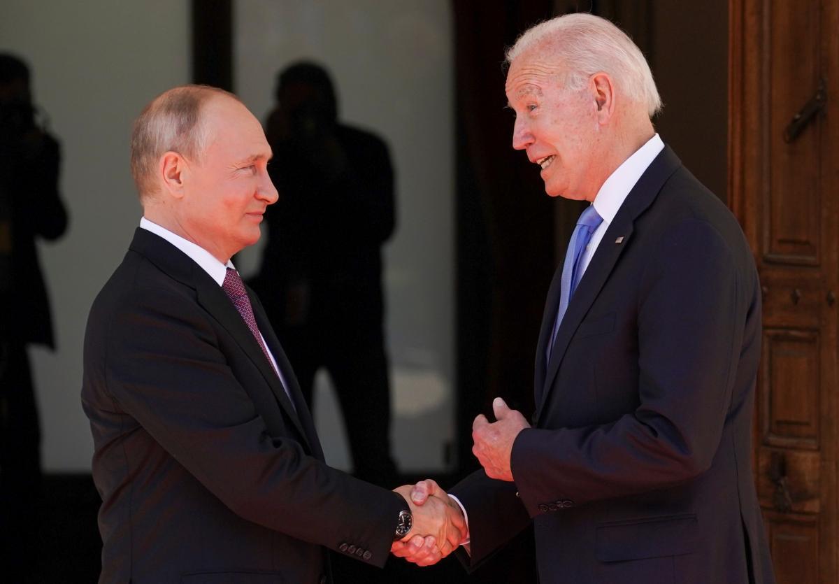 Байден и Путин встретились в Женеве / фото REUTERS