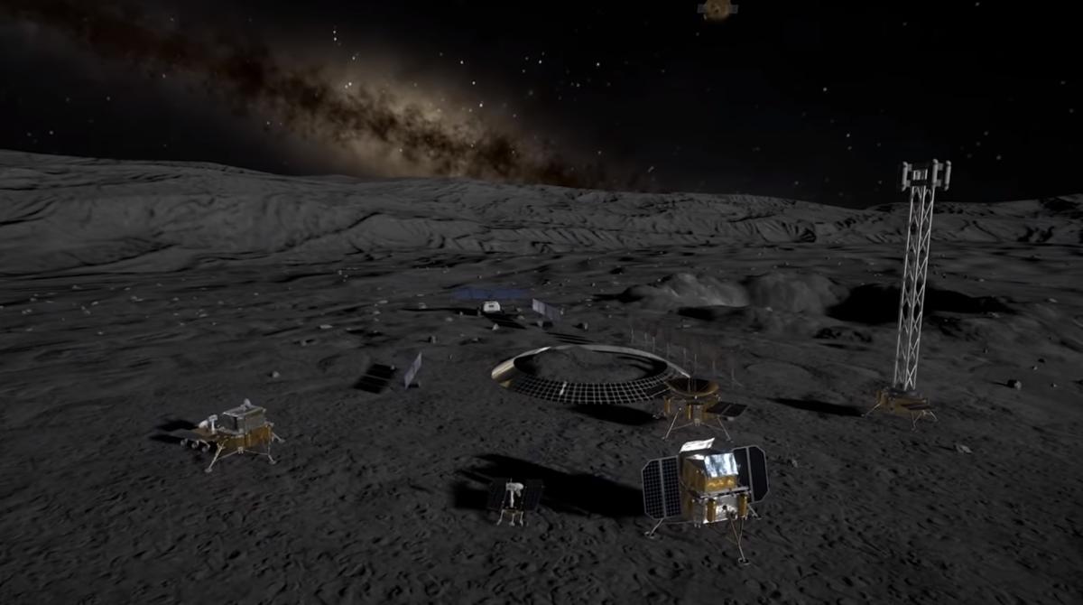 Побудова бази на Місяці буде відбуватися в три етапи / скріншот відео