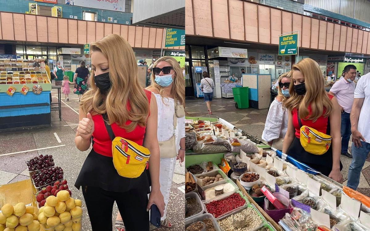Кароль на ринку в Казахстані / фото instagram.com/tinakarol_fantina