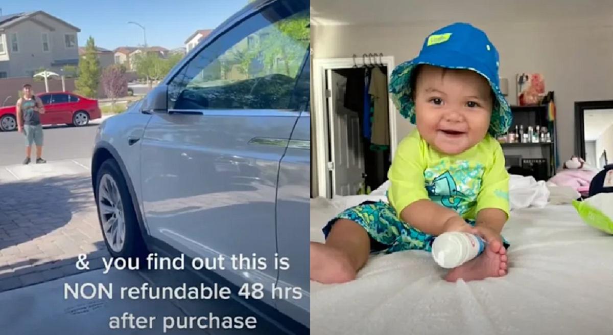 Мать обвинила 10-месячного сына в крупной покупке обновлений для Tesla / скриншот