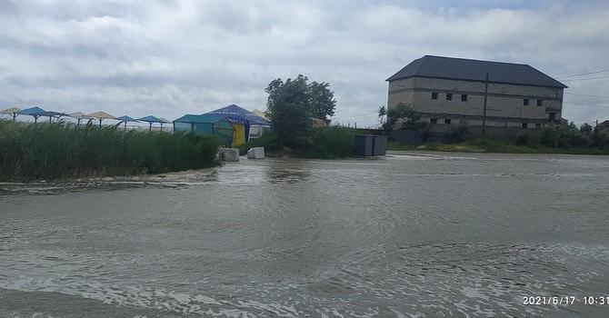 "Пляж в Бердянске затопило / фото ""Бердянск 24"""