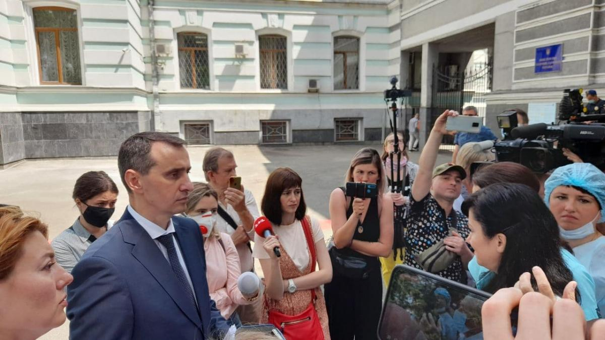 Ляшко выслушал требования медиков / фото УНИАН, Дмитрий Хилюк