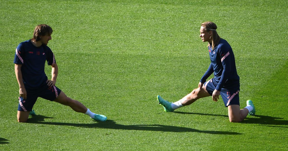 Лука Модрич и Домагой Вида - ведущие хорватские футболисты / фото REUTERS